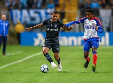 Com erros de arbitragem, Bahia empata com o Grêmio no Brasileirão