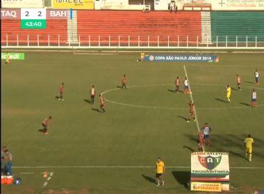 Bahia sofre gol no final e é eliminado da Copa São Paulo de Futebol Júnior