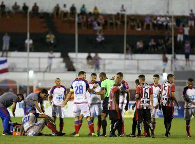 a490074fd20f0 Jogadores do Bahia criticam postura do Atlético de Alagoinhas no Carneirão