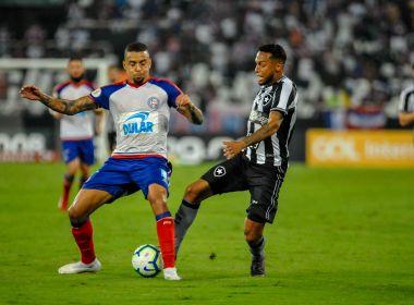 Bahia sai na frente, mas sofre virada do Botafogo e perde a primeira no Brasileirão