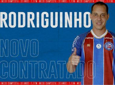 Bahia oficializa a contratação do meia Rodriguinho: 'O 10 chegou!'