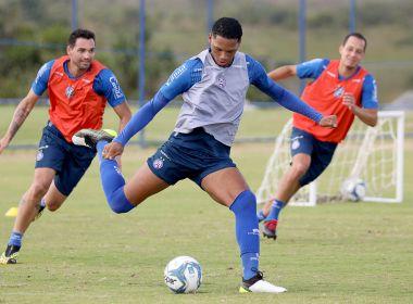Já realizando atividades em equipe e com bola, Bahia tem mais um dia de treino no CT