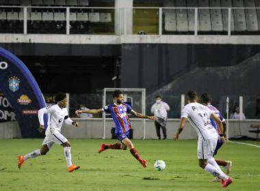 Bahia perde para o Santos e mantém proximidade da zona de rebaixamento