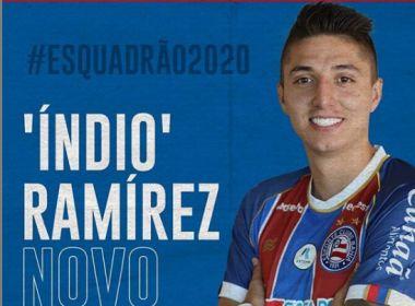 Bahia anuncia contratação do atacante colombiano Juan Pablo Ramirez