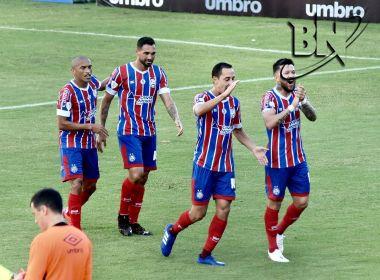 Com quatro gols de Gilberto, Bahia massacra o Altos-PI em Pituaçu