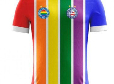No dia do orgulho LGBTQIA+, Bahia inicia venda de camisa nas cores do arco-íris