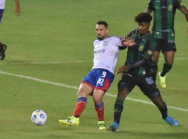 Em jogo de sete gols, Bahia perde para o América-MG no estádio de Pituaçu