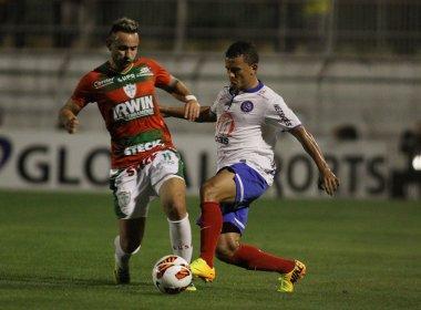 Em jogo sem emoções, Bahia vence Portuguesa no Canindé pela Sul-Americana