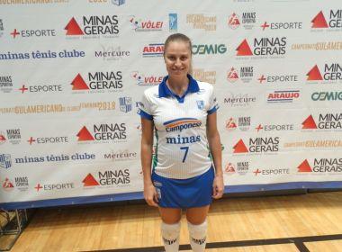 fc7411b0ab5d9 Bahia Notícias   Esportes   Notícia   Jogadora do Minas está grávida de  seis meses e pretende chegar às finais da Superliga - 21 02 2018