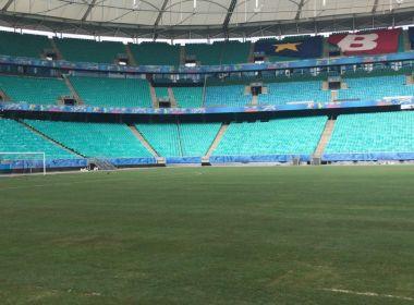 Em nota, Arena Fonte Nova garante que gramado terá condições de jogo