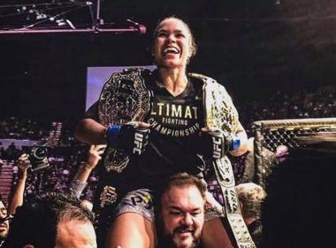 A BAIANA AMANDA CONQUISTA O TÍTULO DOS PENAS DO UFC