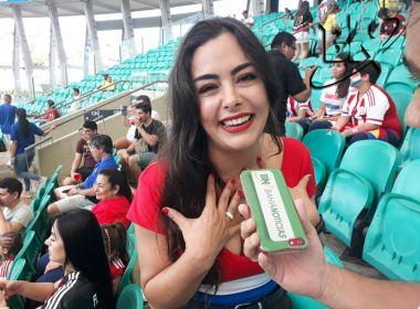 Larissa Riquelme se diz encantada com Salvador e afirma: 'Gostei muito de acarajé'
