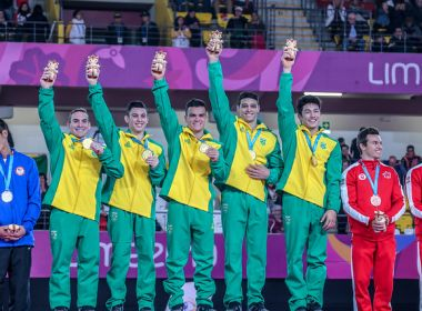 Brasil fatura a medalha de ouro na ginástica masculina do Pan-Americano