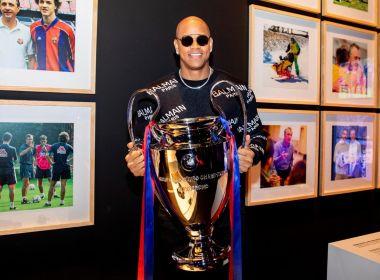 Léo Santana visita Barcelona e assiste a jogo da Liga dos Campeões: 'Prazer enorme'