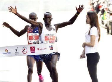 Dupla queniana vence provas masculina e feminina da São Silvestre