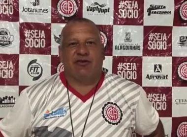 Agnaldo Liz destaca volume de jogo do Atlético de Alagoinhas na vitória sobre o Palmas
