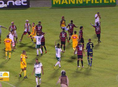 Vitória critica jogador e funcionário do Palmeiras após confusão no Barradão 04731ccbf2df9