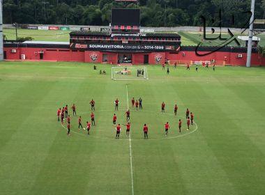 Vitória faz último treino antes do jogo contra o Atlético-GO; confira possível escalação
