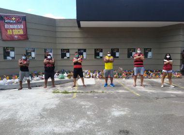 Campanha de torcedores do Vitória para arrecadar alimentos deve ter continuidade