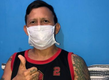 Índio, ex-atacante do Vitória, se recupera em casa após internação e diagnóstico de Covid-19