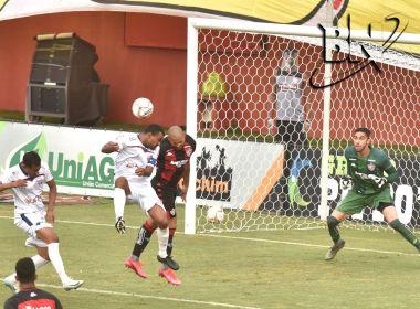 Bahia de Feira sai na frente no Barradão, mas Vitória arranca empate nos acréscimos