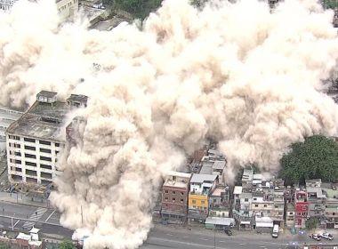 Prefeitura do Rio implode antigo prédio do IBGE que era ocupado por 210 famílias