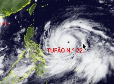 Tufão deixa pelo menos 13 mortos e 8 desaparecidos nas Filipinas