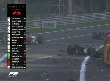 Piloto de Fórmula 2 morre após acidente em prova na Bélgica