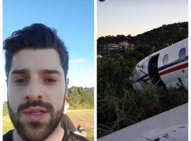 Avião com DJ Alok perde controle em decolagem e sai da pista em Minas Gerais