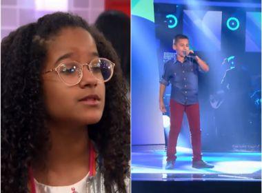 Dois baianos avançam para próxima etapa do 'The Voice Kids'; assista