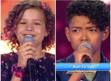 'The Voice Kids' estreia com baiana ex- caloura de Raul Gil e cantor emocionando jurados