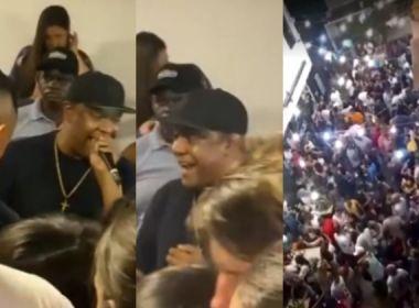 Polícia encerra festa em Pernambués com participação de Márcio Victor