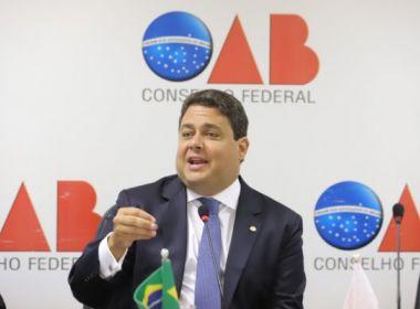 Presidente da OAB levará à PGR casos de ataques de procuradores a advogados e jornalistas