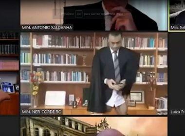 Ministro do STJ participa de sessão por videoconferência sem calça