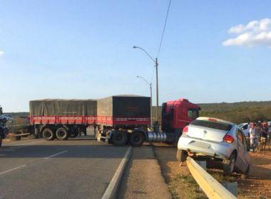 Conquista: Motorista morre após ser atingido por caminhão; vítima atravessava a pista