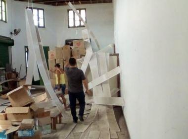 Belmonte: Biblioteca municipal ao lado de banco é danificada devido à explosão