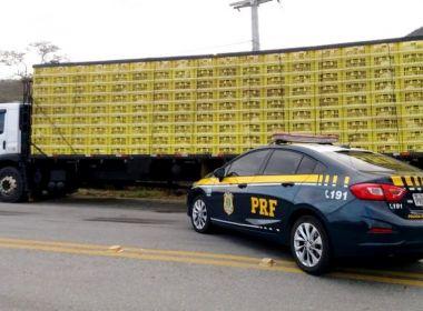 Jequié: PRF apreende mais de 3 mil galinhas transportadas ilegalmente na BR-116