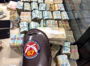 Feira: PM apreende R$ 364 mil; dinheiro pode ser originário de tráfico de drogas