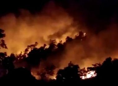 Brejões e Amargosa: Incêndio atinge área de mata próxima a casas