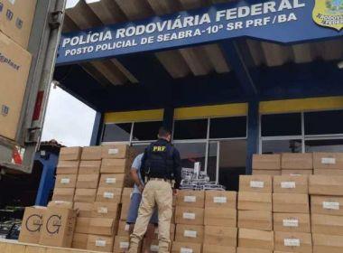 Seabra: PRF apreende carga de cigarros avaliada em R$ 800 mil
