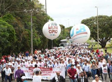 UPB faz marcha em defesa dos municípios nesta segunda