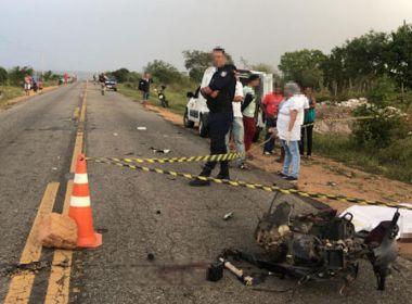 Queimadas: Mulher morre após caminhão colidir com moto na BA 120