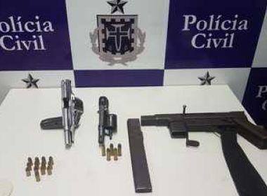 Polícia apreende submetralhadora, pistola e revólver em Tanquinho