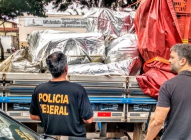 São Gonçalo dos Campos: Três toneladas de maconha são apreendidas em cargas de mamão