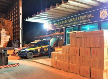 Pombal: PRF apreende carga de 200 mil cigarros avaliada em R$ 1 milhão