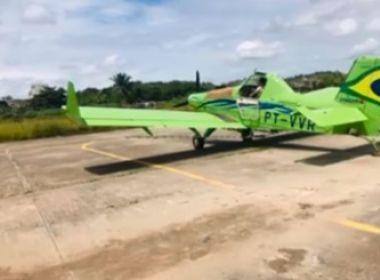Itabuna: Avião agrícola faz pouso de emergência após falta de combustível