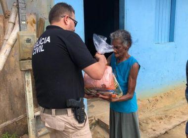 Famílias rurais de Laje e SAJ recebem doação de alimentos distribuídos pela Polícia Civil