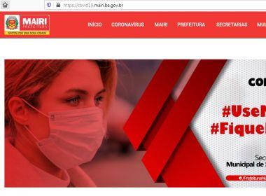 Prefeitura de Mairi lança site com informações sobre o coronavírus