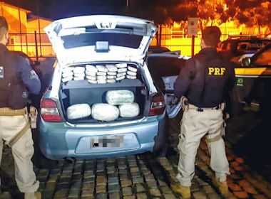 Santa Bárbara: PRF flagra casal com mais de 35kg de maconha escondida no veículo