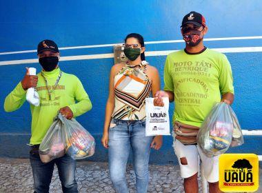 Uauá: Mototaxistas ganham kits de alimentos e de proteção ao coronavírus